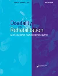 """Disability and Rehabilitation, volume 29"" cover image"
