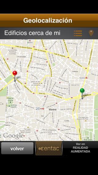 Imagen de la interfaz de la aplicación Accentac