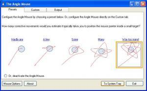 Imagen pantalla de configuración de Angle Mouse