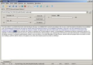 Imagen del la interfaz de Balabolka