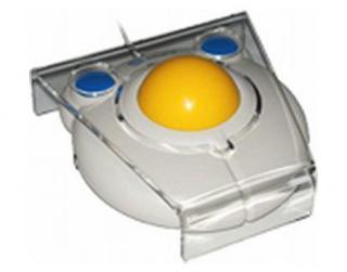Imagen del ratón de bola BIGtrack con canalizador dactilar