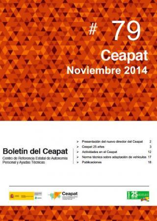 Imagen de la portada del boletín del Ceapat