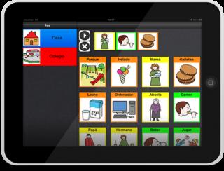Imagen del comunicador CPA para iPad