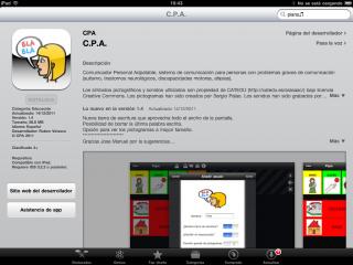 Imagen de la página de App Store
