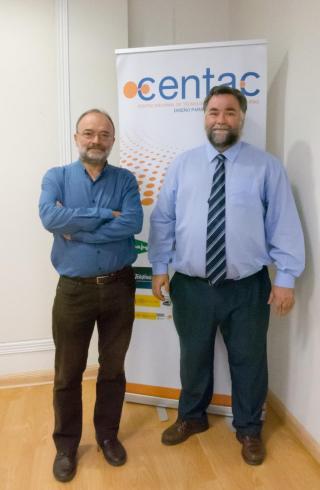Fotografía de Diego Soriano y Santiago Gil en la sede del Centac