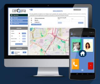 Imagen de la página web y la aplicación de Cerqana