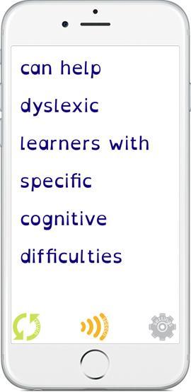 Imagen de la interfaz de Easy Dyslexia & Dysgraphia Aid