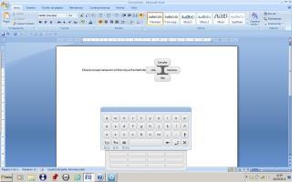 Imagen de pruebas realizadas con el menú y teclado de Enpathia
