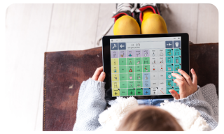 Imagen de un niño utilizando Grid for iPad