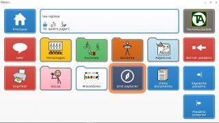 Imagen de la interfaz del comunicador Grid 3