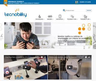 Imagen de la página principal de Tecnobility