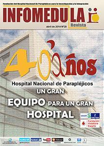 Imagen de la revista Infomédula conmemorando el 40 aniversario