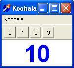 Imagen de la ventana de control de Koohala