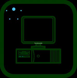 Icono de ordenador accesible