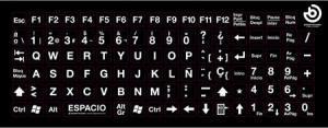 Imagen de pegatinas para teclado