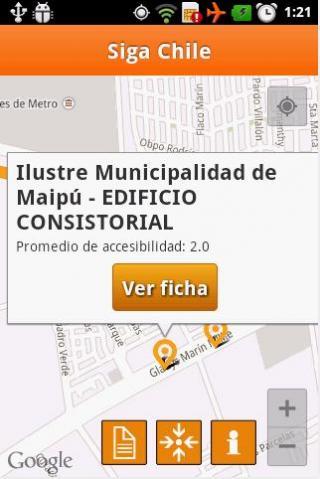 Imagen de la interfaz de SIGA Chile
