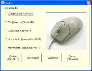 Imagen de la ventana de configuración de SinClic
