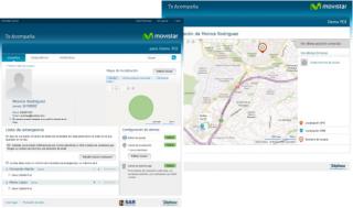 Imagen de la interfaz del servicio Te Acompaña