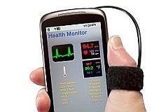 Imagen de un móvil para toma de constantes vitales