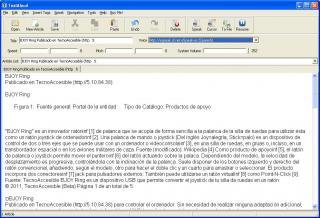 Imagen de la ventana de TextAlaud