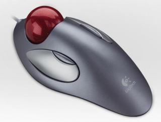 Imagen del ratón de bola Trackman Marble