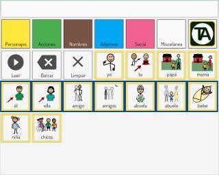 Imagen de la interfaz del comunicador Verbo de Eneso