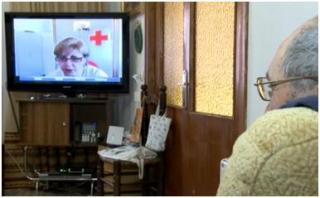 Imagen del servicio de Videoatención Cruz Roja