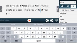 Voice Dream Writer interface image