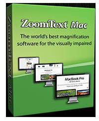 Imagen de la caja del programa ZoomText Mac