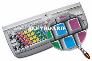 Imagen de las pegatinas de colores sin caracteres