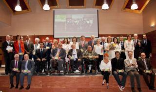 Foto de los premiados en la Semana de Puertas Abiertas del Ceapat 2014