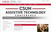 32nd CSUN Conference website image