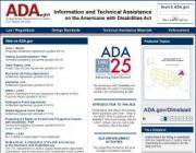 Americans with Disabilities Act website