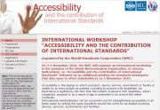Accessibility and the contribution of International Standards Website