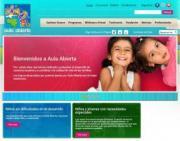 Imagen de la página web Aula Abierta