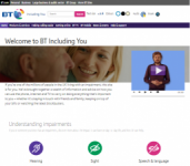 BT Including You's website image