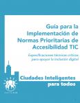 """Portada del documento """"Guía para la Implementación de Normas Prioritarias de Accesibilidad TIC"""""""