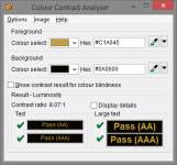 Colour Contrast Analyser interface image