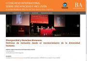 Imagen de la web del II Congreso Internacional de Discapacidad e Inclusión
