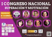 Imagen del banner del I Congreso Nacional  Superación y Motivación