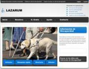 Imagen de la página web de Lazarum