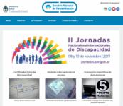 Imagen de la página web del Servicio Nacional de Rehabilitación