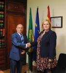 Fotografía de Luis Martín Pindado (presidente UDP) y Belén Galán (Dtra Mk TKE)