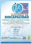 Cartel del V Congreso Nacional de Discapacidad