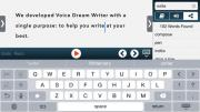 Voice Dream Writer interface image