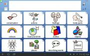 Widgit Go communicator interface image