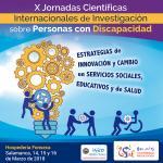 Banner de las X Jornadas Científicas Internacionales de Investigación sobre Personas con Discapacidad
