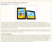 Imagen de la página del artículo iDevices in the Special Education Classroom