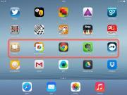 Imagen de la interfaz de iOS con barrido activado