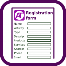 Registration form logo